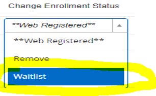 change enrollment